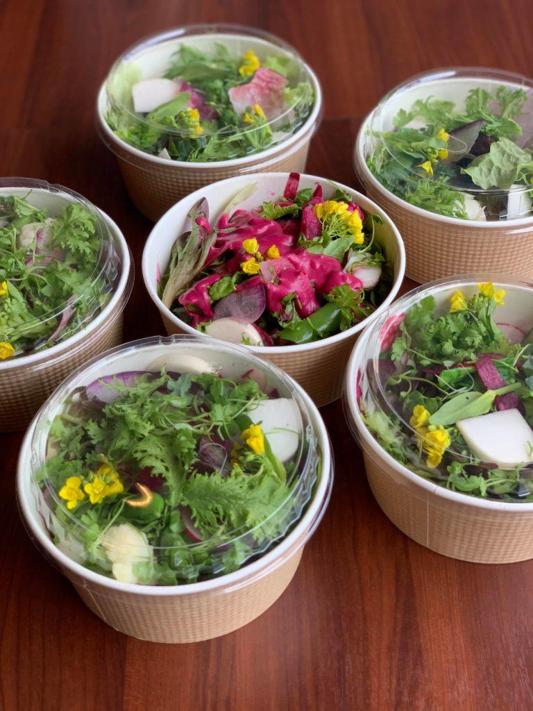 有機野菜たっぷり自家製ドレッシングのパワーサラダボウル