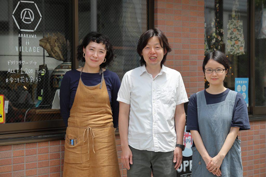 左から 川合理江さん、川合輝幸さん、淡路優子さん