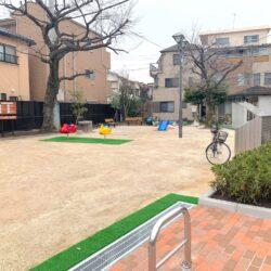町屋第二児童遊園の工事が完了しています