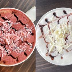 ルビーとクリーム。2種のバレンタインラテを販売開始@町屋PRESSO café&bar
