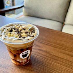 3月限定!ほんのりビターなホワイトチョコのラテ@町屋PRESSO café&bar