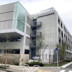 東日暮里の都立竹台高校の新校舎がほぼ完成していました