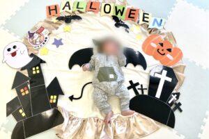 赤ちゃんもハロウィン!いくじ応援団@西日暮里でお昼寝アート